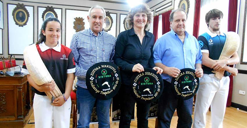 Imagen de la rueda de prensa celebrada en el Ayuntamiento de Andoain