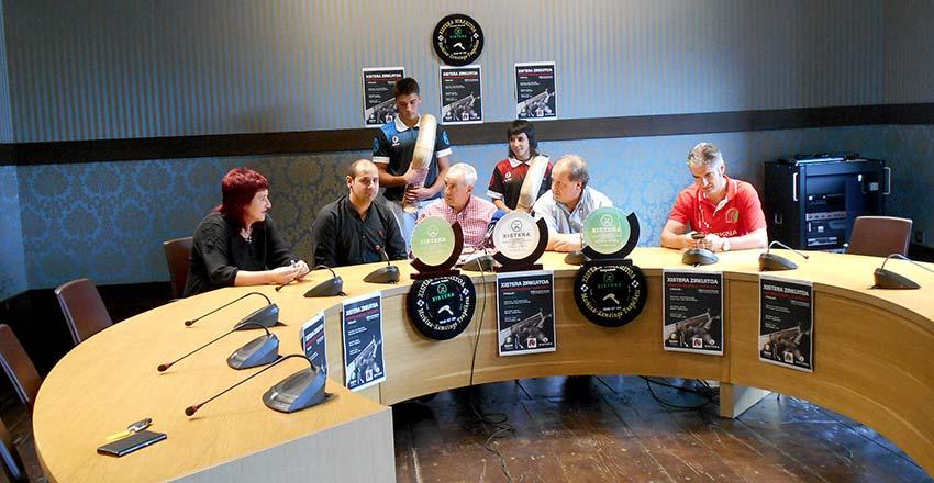 Un instante de la rueda de prensa del martes en el Ayuntamiento de Markina-Xemein