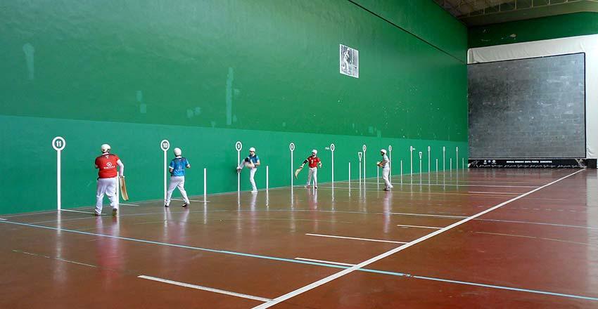 Imagen de la semifinal disputada el domingo en Andoain